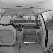 Selbstfahrer bzw. Mitfahrer Van Innenansicht