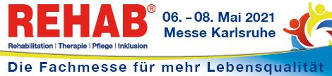 REHAB – 21. Europäische Fachmesse für Rehabilitation, Therapie, Pflege und Inklusion.
